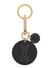Personal Key Ring & Bagtag Nøglering Sort Design Letters