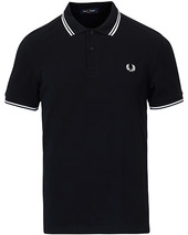Fred Perry Twin Tip Polo Navy/white