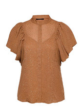 Marigold Ocatavia Shirt Blouses Short-sleeved Guld Bruuns Bazaar