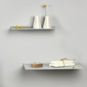 Slim Shelf I Metallic Læder - Small