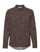 Milly Shirt Aop 9942 Langærmet Skjorte Brun Samsøe Samsøe