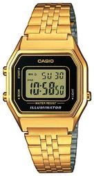 Casio Collection Dameur La680wega-1er Lcd/gul Guldtonet Stål