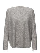 Curved Sweater Strikket Trøje Grå Davida Cashmere