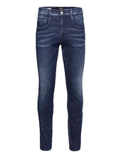 Anbass Trousers White Shades Skinny Jeans Blå Replay