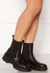 Pieces Selione Leather Boot Black 36