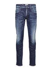 Anbass Trousers Aged Slim Jeans Blå Replay