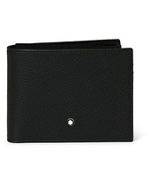 Montblanc Mst Soft Grain Wallet 11cc With View Pocket Black