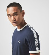 Fred Perry Taped Ringer T-shirt, Blå