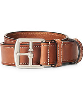 Anderson's Bridle Stiched 3,5 Cm Leather Belt Tan