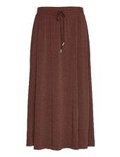Nabaiw Skirt Knælang Nederdel Brun Inwear
