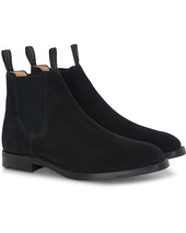 Loake 1880 Chatsworth Chelsea Boot Black Suede