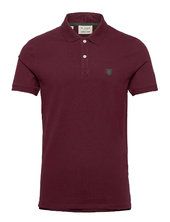 Shdaro Ss Embroidery Polo Noos Polos Short-sleeved Rød Selected Homme