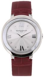 Baume & Mercier Promesse Dameur M0a10262 Sølvfarvet/læder