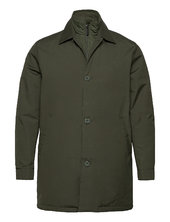 Arctic Canvas Jacket With Buttons Tynd Jakke Grøn Knowledge Cotton Apparel