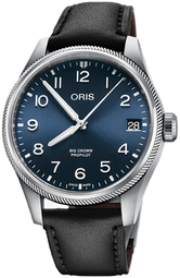Oris Aviation Herreur 01 751 7761 4065-07 6 20 08lc Blå/læder Ø41