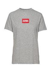 Everyday Square Logo Tee T-shirt Top Grå Svea
