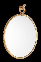Tallulah Spejl - Stort Antikguldfarvet