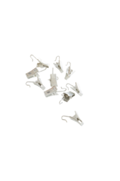 Klamra Klemme - 10-pak Sølv