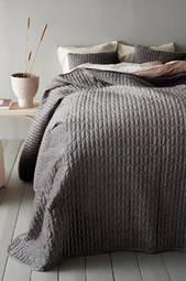 Tily Sengetæppe - Enkeltseng 180x260 Cm  Gray