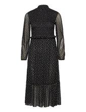 Dress Knitted Fabric Knælang Kjole Sort Taifun