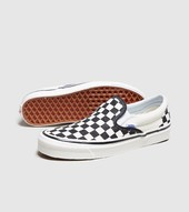 Vans Anaheim Checkboard Slip-on Til Kvinder, Sort