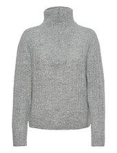Alphagz R Zipper Pullover Noos Turtleneck Rullekravetrøje Grå Gestuz