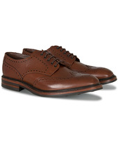 Loake 1880 Badminton Brogue Dark Brown Grain