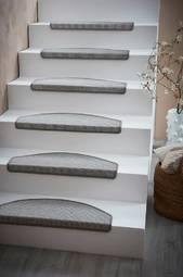 Escalier Trappetrinsmåtte 2-pak Gråhvid