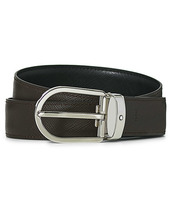 Montblanc Reversible Saffiano Leather 30mm Belt Black/brown