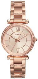 Fossil Carlie Dameur Es4301 Rosa Guldfarvet/rosaguldtonet Stål Ø35