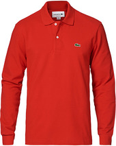 Lacoste Long Sleeve Polo Red