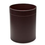 Papirkurv I Læder - Chocolate