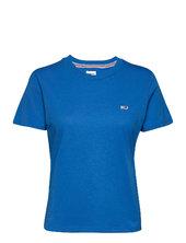 Tjw Regular Jersey C Neck T-shirt Top Blå Tommy Jeans