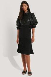 Na-kd Pleated Detail Skirt - Black