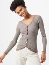 Rosemunde Cardigan 'silk'  Brun-meleret