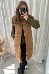 Stacy Quilted Vest - Brun