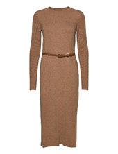 Dresses Flat Knitted Knælang Kjole Brun Esprit Collection