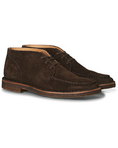 Drake's Crosby Moc-toe Suede Chukka Boots Dark Brown