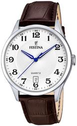 Festina Classic Herreur F20426-1 Hvid/læder Ø43 Mm