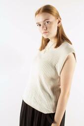 Daylily Rosmine Knit Top - Sandstorm - Bruuns Bazaar - Sand Xs
