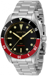 Invicta Pro Diver Herreur 34334 Sort/stål Ø40 Mm