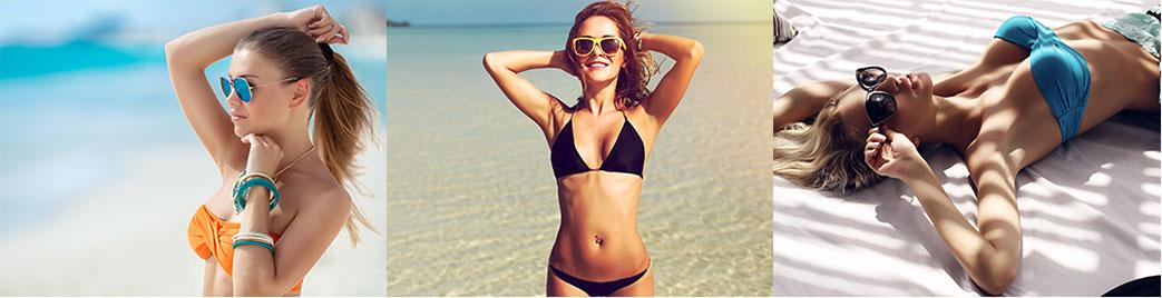 Piger i flotte bikinier