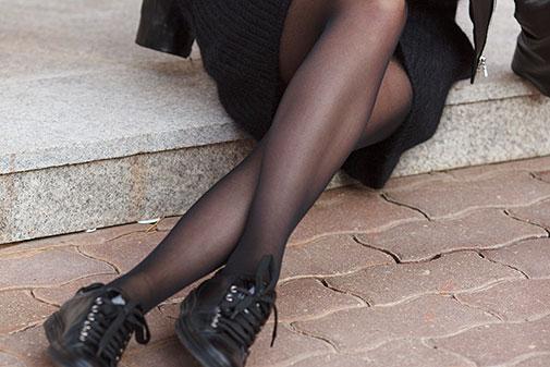 Klassiske strømpebukser i nylon
