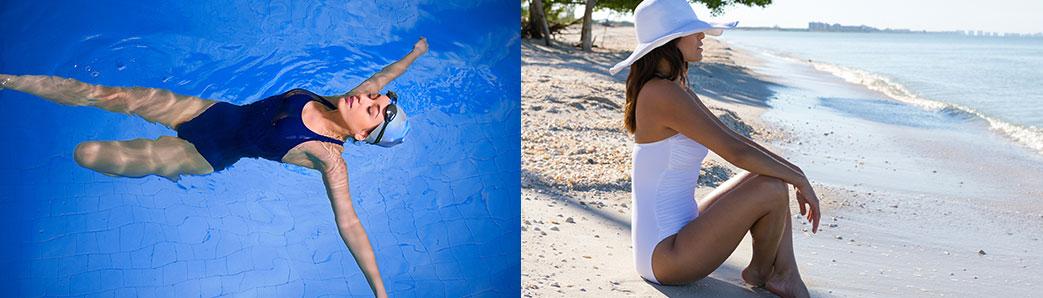 Sport og strand badedragt