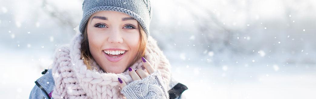 Flot dame i smart vinterjakke