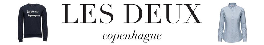 Les Deux logo og produkter