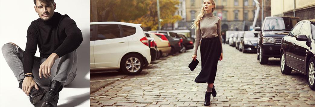 Mand og kvinde i sorte støvler