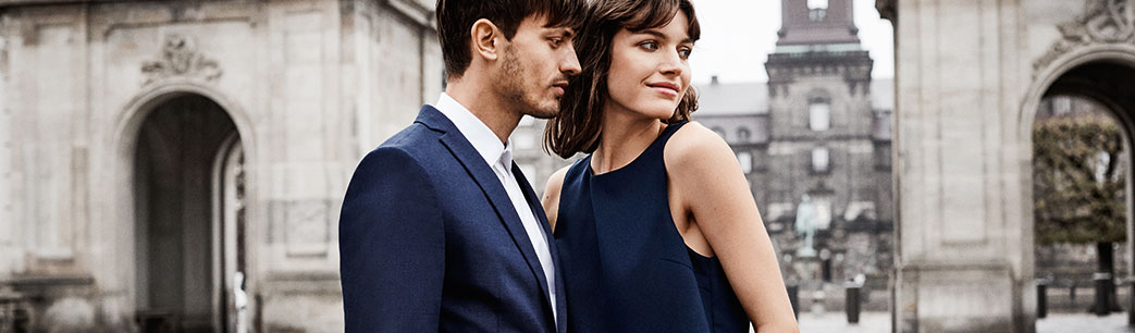 Mand og kvinde i Selected tøj