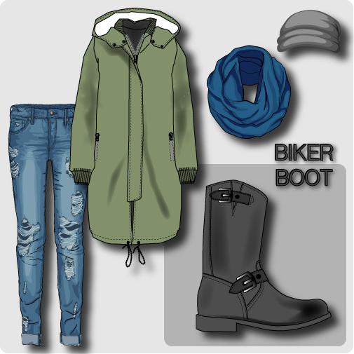 Biker boots collage