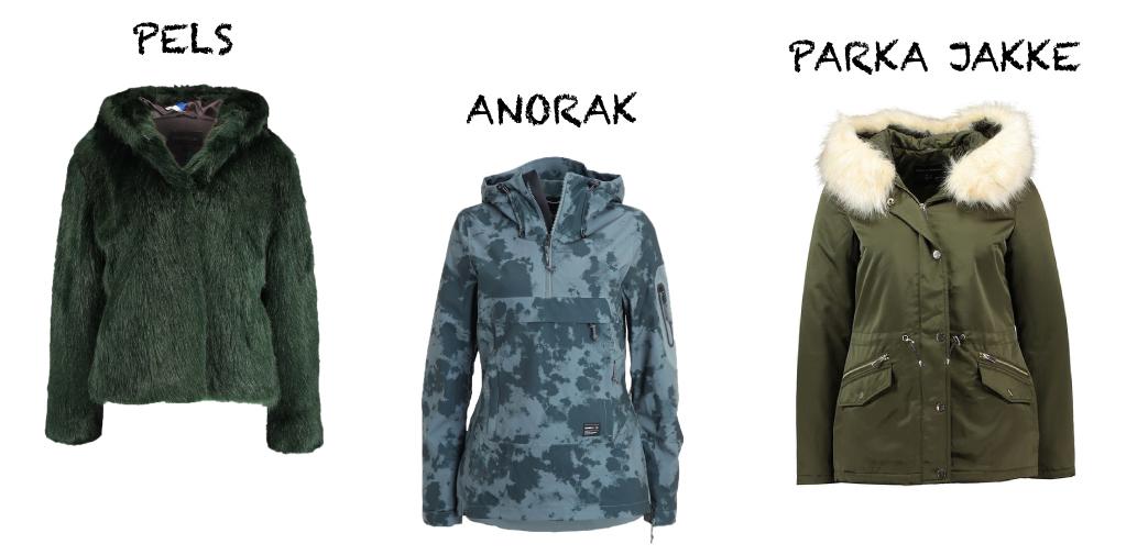 Pels, anorak og parka jakke